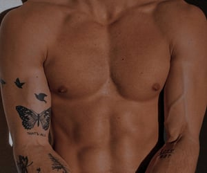 body, men, and tattoo image