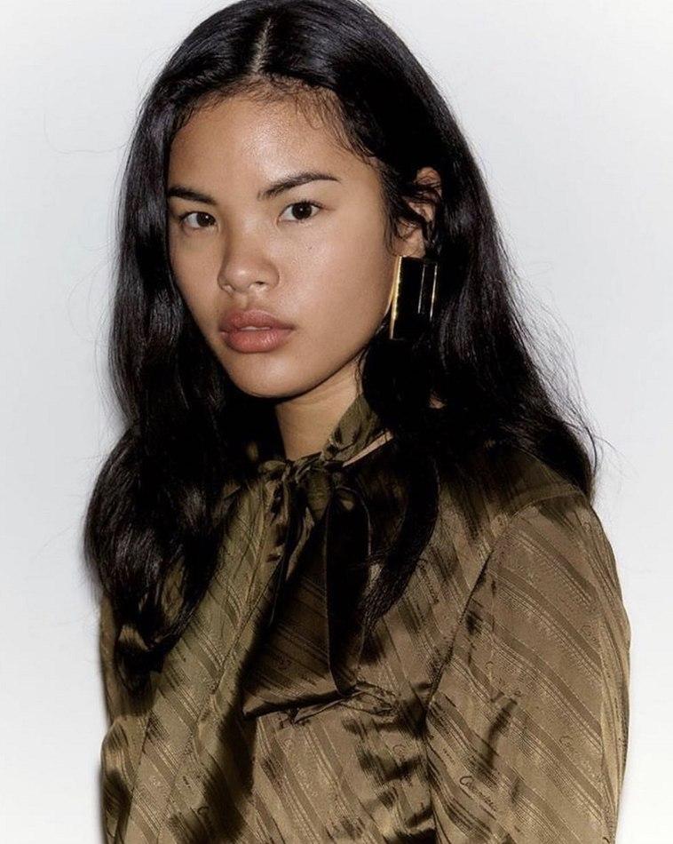 filipina girl black hair image