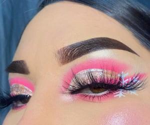 christmas, glam, and pink makeup image