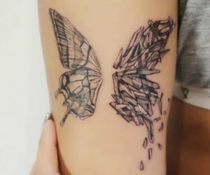 art, broken, and butterfly image