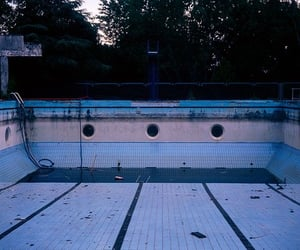 pool, abandoned, and aesthetic image