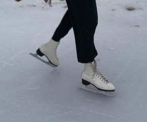 ice skating, winter, and ice image