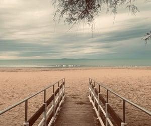 autumn, beach, and italia image
