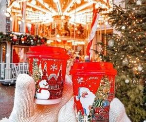 christmas, coffee, and snowman image