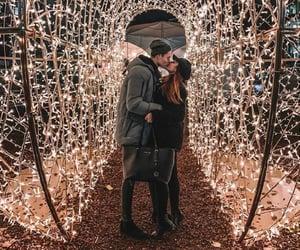 amour, christmas, and couple image