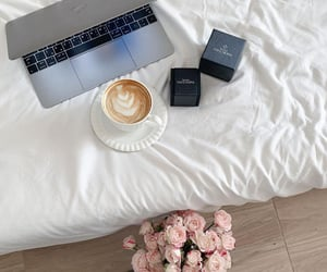enjoy, coffee, and flowers image