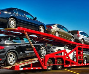 car transfer, vehicle transport, and car carrier image
