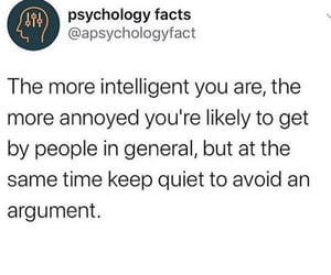 annoyed, intelligence, and quiet image