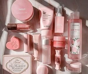 makeup, pink, and skincare image