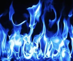 blue and fire image
