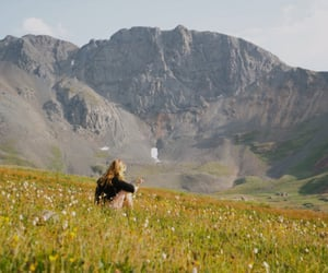 mountains, nature, and flowers image