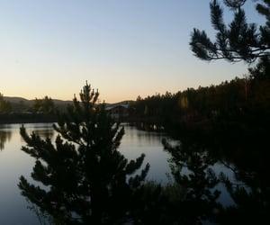 lake, sunset, and photography image