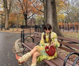 fall, nyc, and fashion image