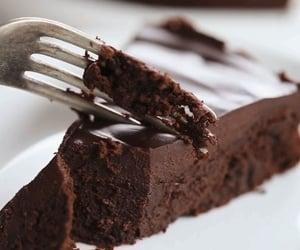breakfast, cake, and chocolate image