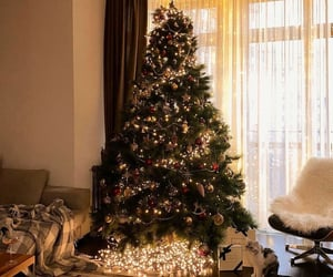 cat, house, and presents image