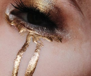 gold, aesthetic, and makeup image