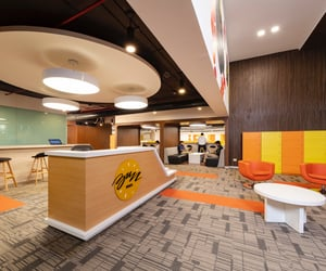 co-working space and managed office spaces image