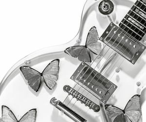 aesthetic, butterflies, and guitar image