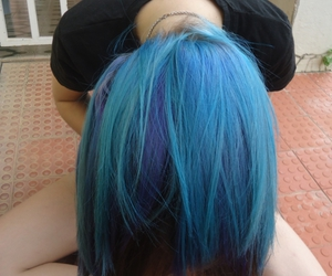 hair, lovely, and blue hiar image