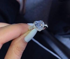 heart, diamond, and jewerly image