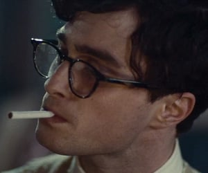 daniel radcliffe, kill your darlings, and cigarette image
