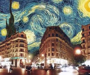 art, city, and van gogh image