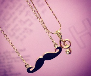 mustache and necklace image
