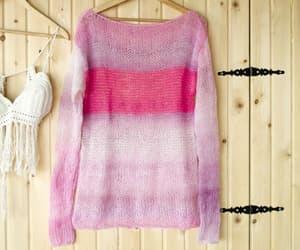 etsy, free shipping, and mohair sweater image