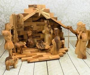 1992, etsy, and christmas nativity image