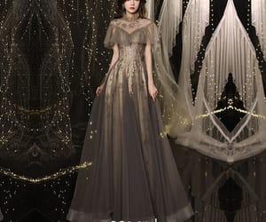 long dress, formal dresses, and girl image