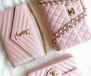 designer, pink, and purse image