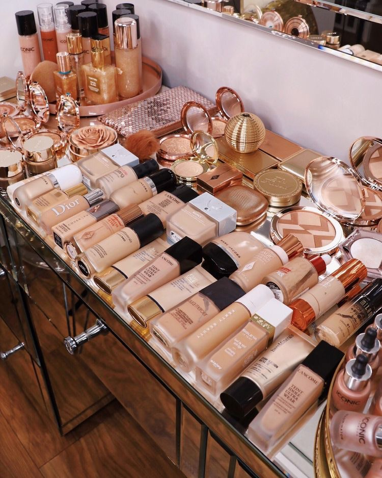 beauty, foundation collection, and gold image