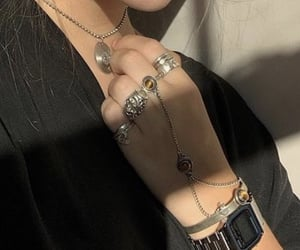accessories, hands, and jewelry image