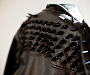 fashion, spikes, and jacket image