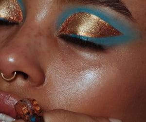 aesthetic, blue, and eyeshadow image