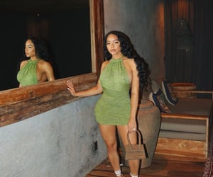 girly, green dress, and photoshoot image