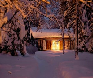 cabin, december, and finland image