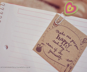 happy, quote, and heart image