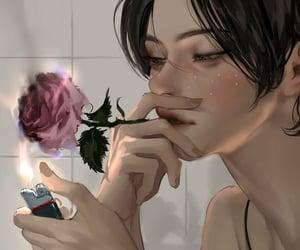 aesthetic, beautiful, and girl illustration image