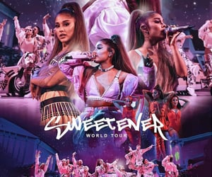 music, sweetener, and poster image
