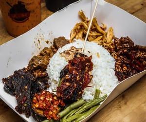 rice, asian food, and satay image