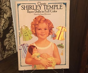 arts and crafts, shirley temple, and cut out dolls image