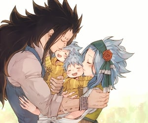 anime, gajeel, and levy image