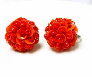 etsy, red earrings, and gift for her image