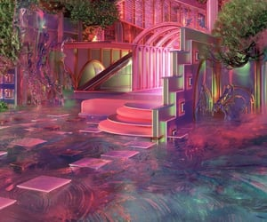 aesthetic, pink, and futuristic image
