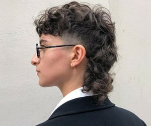 80's, hair, and mullet image