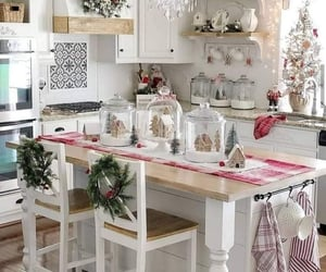 christmas, house, and white image