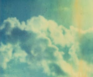 vintage, blue, and clouds image