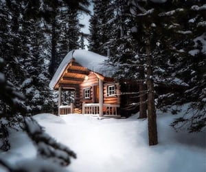 house, snow, and snowy image