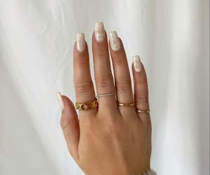 nails, beige, and beauty image